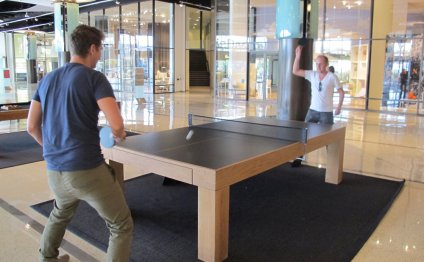 The boys playing Ping Pong