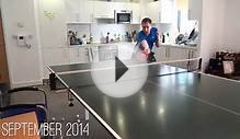 Man plays table tennis every day for an entire year
