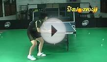 Table Tennis: exercises of serve